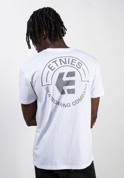 etnies T-Shirts Tour white vorderansicht 0320500