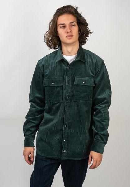 Dickies Hemden langarm Ivel Corduroy forest vorderansicht 0411923