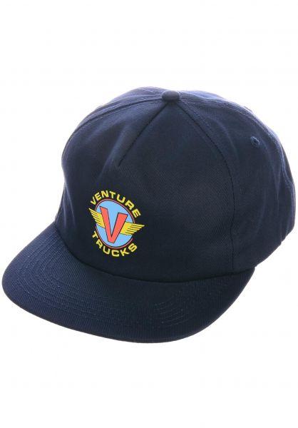 Venture Caps Wings navy vorderansicht 0566690