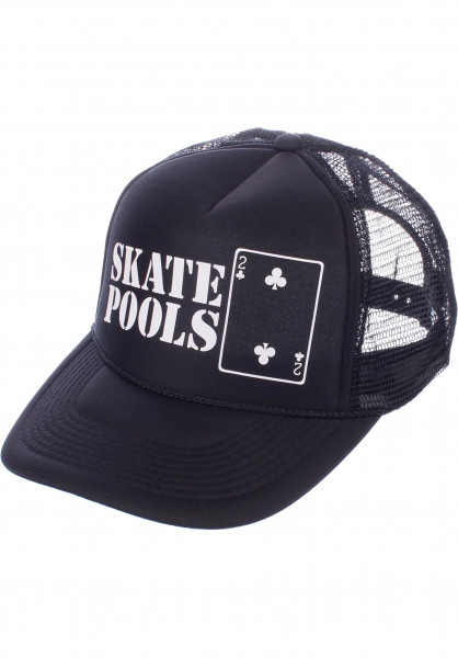 Lowcard Caps Skate Pools black Vorderansicht