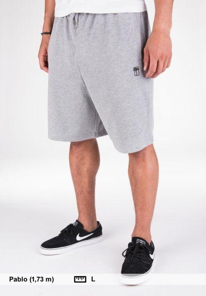 Mahagony Shorts T.O.L. Sweatshort greymelange-black Vorderansicht