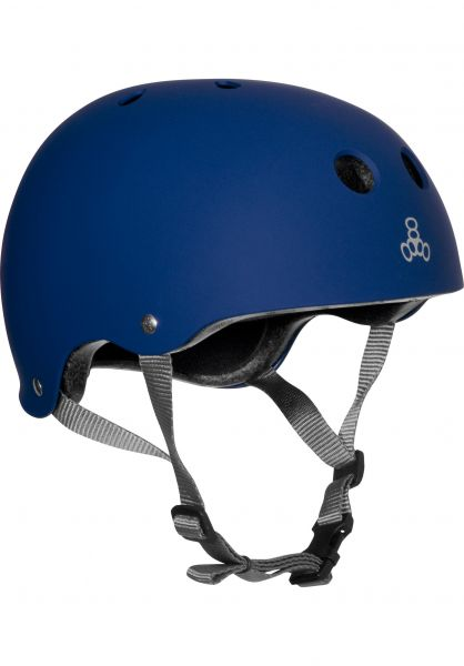 Triple Eight Helme Brainsaver rubber-blue Vorderansicht