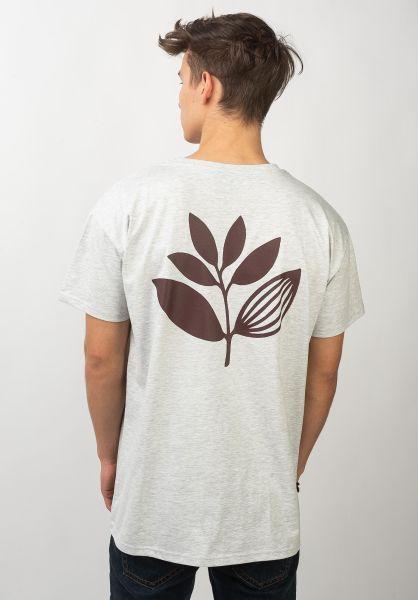 Magenta T-Shirts Plant ash vorderansicht 0372988