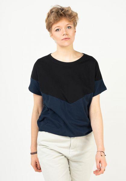 Mazine T-Shirts Mina black-navy vorderansicht 0324032