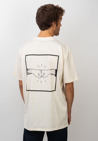 TITUS T-Shirts Emin-Backprint offwhite vorderansicht 0399255