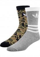 adidas Socken Thin Crew Sock Tref multicolor-black-mediumgreyheather Vorderansicht