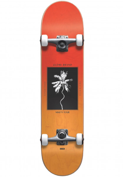 Globe Skateboard komplett Palm Off Mini red-fade Vorderansicht