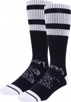 Doomsayers-Socken-Snake-Shake-black-white-Vorderansicht