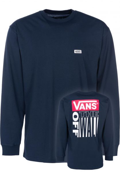 Vans Longsleeves Retro Tall Type navy vorderansicht 0383173