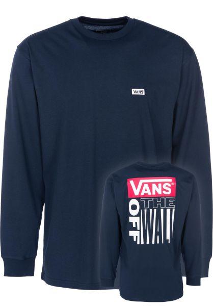 Vans Longsleeves Retro Tall Type navy vorderansicht 0383173