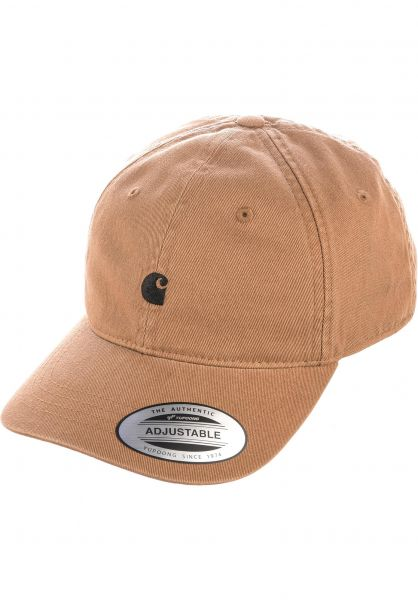 Carhartt WIP Caps Madison Logo Cap tawny-black vorderansicht 0565940
