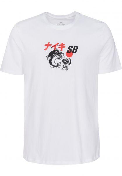 Nike SB T-Shirts BBQ Fish white-black Vorderansicht