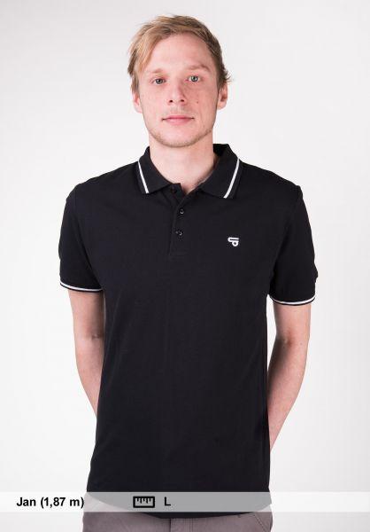 TITUS Polo-Shirts Johann black-white vorderansicht 0138341