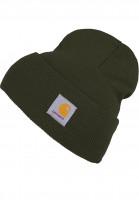 Carhartt-WIP-Muetzen-Acrylic-Watch-Hat-cypress-Vorderansicht